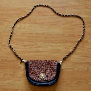Call It Spring Leopard Crossbody with Chain Strap
